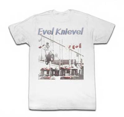 T-Shirts Sizes S-2XL New Authentic Mens Evel Knievel Chillin T-Shirt
