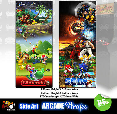 Multigame 3  Arcade Side Art Stickers Graphics  / Laminated All Sizes