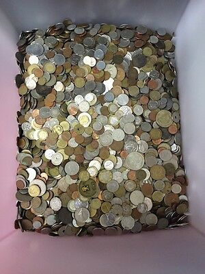 UNSEARCHED WORLD COIN POUND 5 LB LOT! (5lb) Mixed Foreign Coin Lot by Weight
