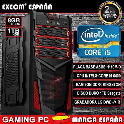 ORDENADOR PC GAMING INTEL CORE i5 6400 6ª GEN 8GB DDR4 1TB HDMI - MARCA ESPAÑA