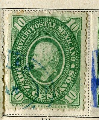 MEXICO;  1884 early classic issue fine used 10c. value
