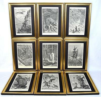 9 Ernest Griset Engravings, Aesop's Fables 1868, Framed, All 54 Available