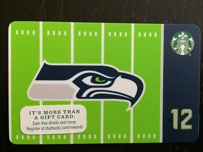 Rare Limited Edition 2016 Starbucks NFL Seattle Seahawks gift card, Never swiped