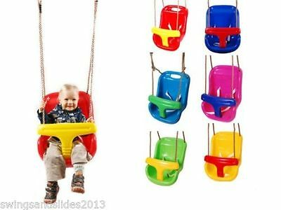Back Supporting BABY SWING SEAT*ADJUSTABLE ROPES* for KIDS SWING SET FREE P&P!