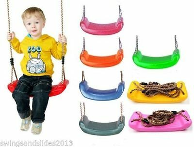Kids swing seat with rope & adjusters for climbing frame FREE P&P