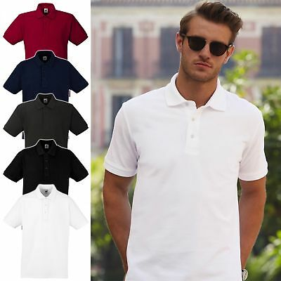 3er Pack * FRUIT OF THE LOOM * dickes Herren Poloshirt, Heavy Polo 63-000-0 NEU