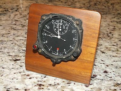 RARE Vintage Avaition Mechanical Sphinx American Corp Aircraft 8 Day Clock