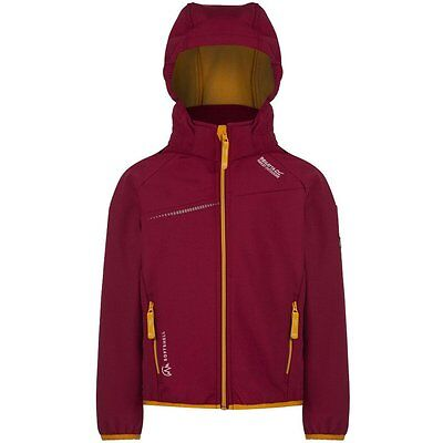 Regatta Hydronic beetroot Children's Soft shell jacket with hood red