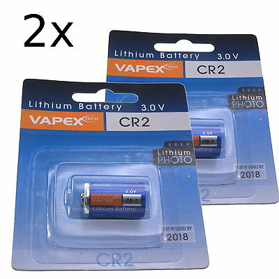3V Vapextech Lithium camera battery CR2 (2 packs) - UK seller