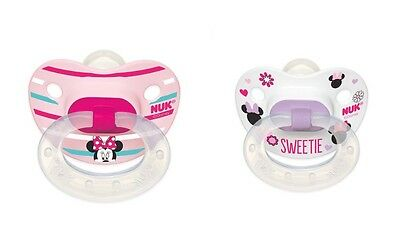 Nuk Disney Orthodontic Pacifier 2-Pack Minnie Mouse Size 6-18 Months