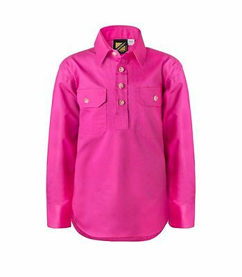 NEW Kids Work Shirts PINK  Size 0 2 4 6 8 10 12