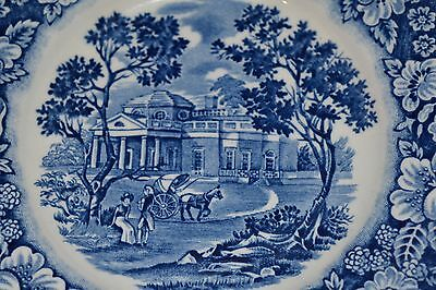 Liberty Blue Colonial Staffordshire Ironstone Monticello Bread Plates Set of 2
