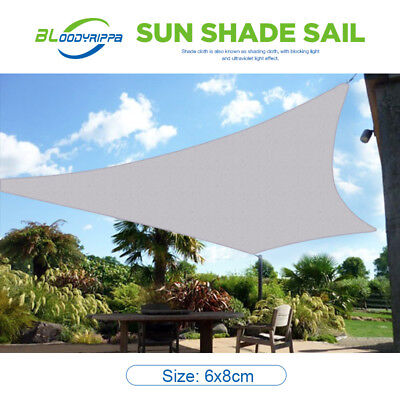 Newcome OUTT Large 6x8m Outdoor Sun Shade Sail Canopy HDPE Sand Cloth Rectangle