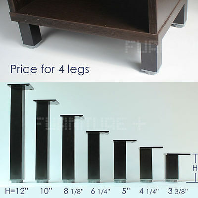black table leg aluminum square adjustable height kitchen cabinet legs feet 4x