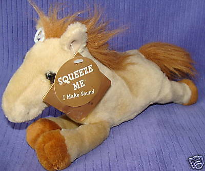 "Dakin Huggables Haley Horse 12"" Nwt Makes Sounds ~ Cm14"