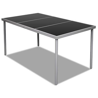 New Outdoor Dining Table Glass Top Garden Side Furniture Kitchen Coffee Patio