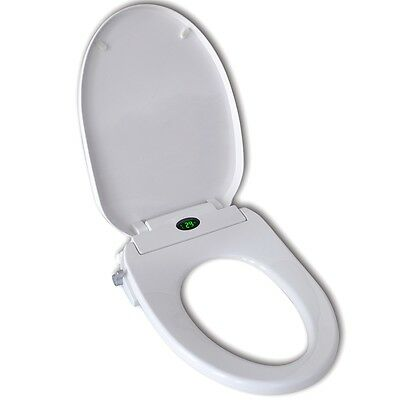 New Automatic Electronic Toilet Seat Bidet Soft Close Lid Bathroom Thermostat