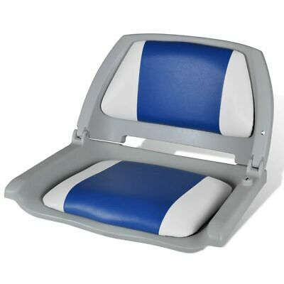 Deluxe Premium Boat Pillow Seat Folding Marine Fishing Travel Chair All Weather