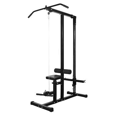 Lat Pulldown Machine Low Row Fitness Multi Station Home Gym Exercise Pull Down