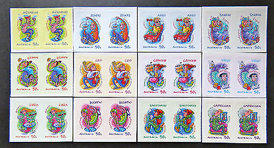 Australian Decimal Stamps: 2007 Signs of the Zodiac - Set of 12x2 P&S MNH