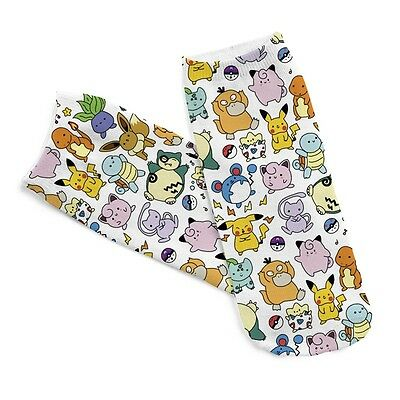 Pokemon Cartoon Pikachu Socks Anime Pocket Monster Character Unisex Short Socks