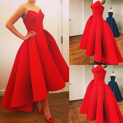 Formal Wedding Evening Ball Gown Party Prom Bridesmaid Dress Stock Size 6-18