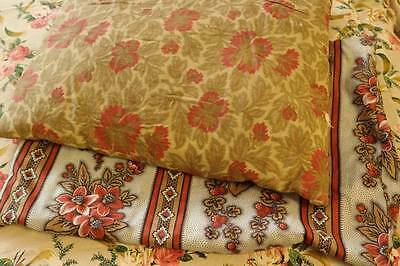 2 DELICIEUX FRENCH FABRIC CUSHION COVERS,FADED GRANDEUR for reworking,feather pa
