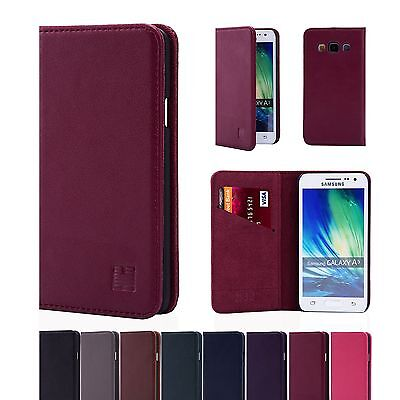 32nd Classic Genuine Real Leather Slim Wallet Case Cover Samsung Galaxy Models