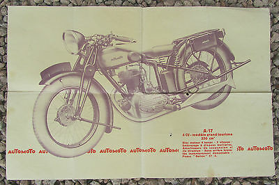 Ancien Catalogue Brochure Automoto 1931