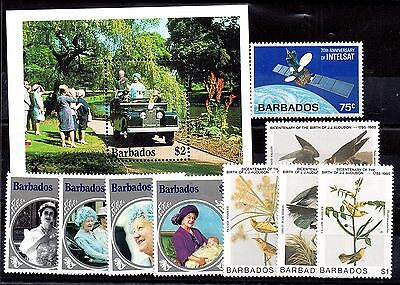 Barbados 1985 mint MH collection (10V) WS969