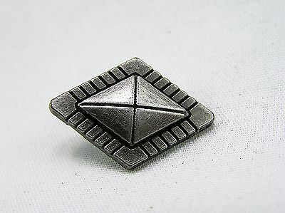 Punk Rivets Diamond GeoGem silver 25x17mm jasz up your gear - hats, bags, belts