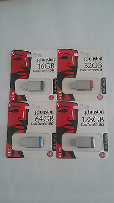 Pendrive Kingston Dt50 16/32/64/128Gb Usb 3.1
