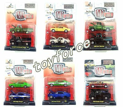 Auto Model M2-Machines Auto Lift Chevrolet&Dodge&Ford Toy Car 1:64 New In Stock