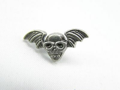 Punk Rivets Winged Skull Antique silver 20x10mm suit bags, belts, hats, collars