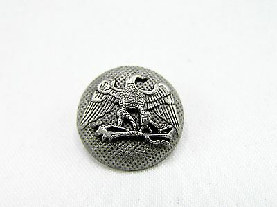 Punk Rivets Round Eagle Design Antique Silver 16x16mm