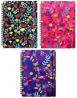 Letts 2017 Diary Fashion PP A5 Week-To-View Floral Spiral Bound