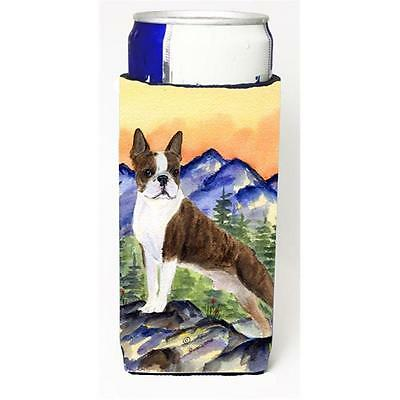 Carolines Treasures Boston Terrier Michelob Ultra bottle sleeve for Slim Can