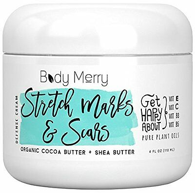 Stretch Marks Cream Moisturizer With Cocoa & Shea Butter 4 fl. Oz. By Body Merry