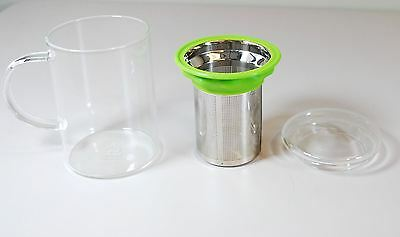 Teavana Mug - Remi Glass Infuser - Silicone Lip Cup & Glass Lid