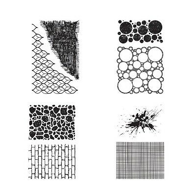 Ultimate Crafts Cling Stamp Bundle - Background Textures
