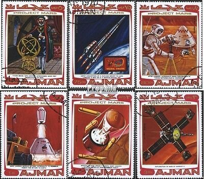 Ajman 678-683 (complete issue) used 1971 Project Mars