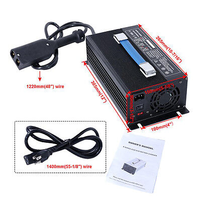 36V 18Amp Battery Charger Power Automatic Fan For Ez-Go TXT Golf Cart Powerwise