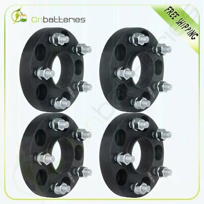 """4X 25mm (1"""") 5x4.5 Hubcentric Wheel Spacers For Nissan 300ZX 350Z Infiniti G35"""