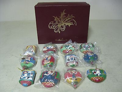 Collectible 12 Danbury Mint Raggedy Ann And Andy Christmas Ornaments Boxed #2