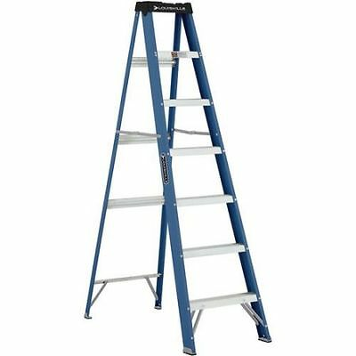 Louisville Fiberglass Ladder 7' Ladder - Multi Purpose 7 foot, ft Step Extension