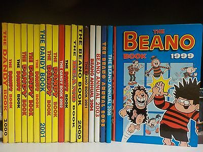 The Beano & Dandy Annuals - 19 Books Collection! (ID:38379)