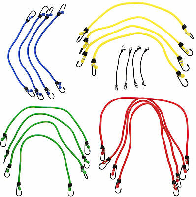 ABN Heavy Duty Assortment Bungee Cord Straps 10, 18, 20, 24, & 30-Inch, 20 Pack