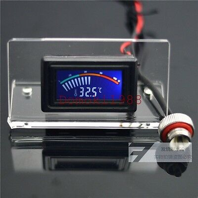 Olike Water Cooling Analog water temperature gauge G1/4 thermodetector LCD+frame