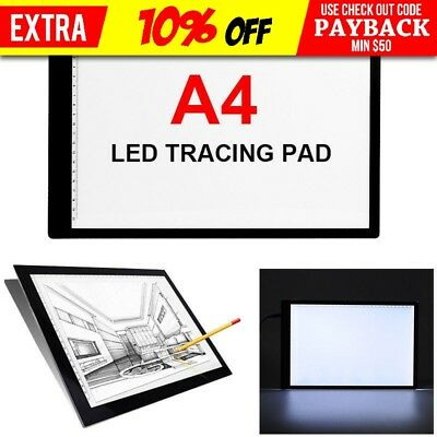 Portable A4 LED LightBox Pattern Tracing Pad Art Design Stencil Drawing AU Stock