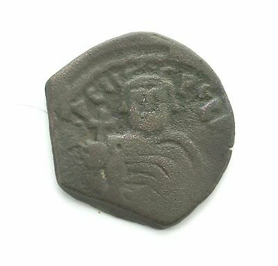 ARC328 Ancient Byzantine Coin Emperor Heraclius 612AD AE Follis 28mm RARE